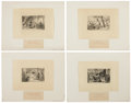 Antiques:Posters & Prints, Ten Cruikshank Proof Illustrations From Walter Scott's WaverleyNovels. Proof impressions for The Waverley Nov... (Total: 10Items)