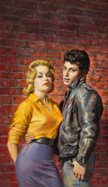 Pulp, Pulp-like, Digests, and Paperback Art, AMERICAN ARTIST (20th Century). Teenage Vice, paperbackcover, 1957. Gouache on board. 21.5 x 12.5 in.. Not signed. ...