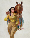 Pin-up and Glamour Art, AMERICAN ARTIST (20th Century). Grapette Soda, adillustration. Oil on canvas. 30 x 24 in.. Not signed. ...