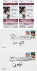 Baseball Collectibles:Others, Cal Ripken Jr. Signed First Day Covers Lot of 2....