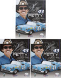 Autographs:Photos, Richard Petty Signed Photographs Lot of 3.... (Total: 3 items)
