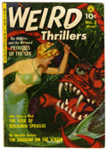 Golden Age (1938-1955):Horror, Weird Thrillers #3 (Ziff-Davis, 1952) Condition: VG+.