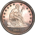 Proof Seated Quarters, 1883 Seated Quarter PR66 NGC....