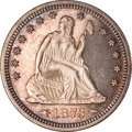 Proof Seated Quarters, 1873 Seated Quarter Arrows PR64 NGC....