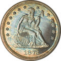 Proof Seated Quarters, 1873 Seated Quarter No Arrows PR63 NGC....
