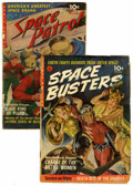 Golden Age (1938-1955):Science Fiction, Space Busters #1/Space Patrol #2 Group (Ziff-Davis, 1952).