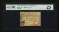 Colonial Notes:North Carolina, North Carolina April 2, 1776 $4 Sheaf of Wheat PMG Very Fine 25....