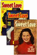 Golden Age (1938-1955):Romance, Sweet Love #2-5 Group (Harvey, 1949-50) Condition: Average VF.