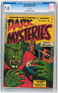 Golden Age (1938-1955):Horror, Dark Mysteries #3 (Master Publications, 1951) CGC FN/VF 7.0 Whitepages.