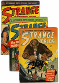 Golden Age (1938-1955):Science Fiction, Strange Worlds #7-9 Group (Avon, 1952) Condition: Average VG.