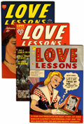 Golden Age (1938-1955):Romance, Love Lessons #1-5 File Copies Group (Harvey, 1949-50) Condition:Average VF/NM.