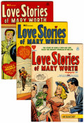 Golden Age (1938-1955):Romance, Love Stories of Mary Worth #1-4 File Copies Group (Harvey, 1949-50)Condition: Average VF+.