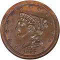 1856 Braided Hair Half Cent MS63 Brown NGC....(PCGS# 1236)