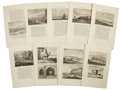 Antiques:Posters & Prints, Nine Engraved Illustrations From Cornelis de Bruin's Reizen OverMoskovie. Each page measures 9.75 x 16 inches. ... (Total: 9Items)