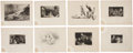 Antiques:Posters & Prints, Fifteen Circa 1845 Engraved Plates. 8.25 x 10.5 inches. From TheGallery of Engravings, Volumes I and II, London: Fisher, So...