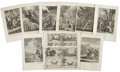 Antiques:Posters & Prints, Twenty-One Engraved Plates Circa 1742 Depicting Scenes From theBible. 9.25 x 14 inches. From A New History of the Holy Bi...(Total: 21 Items)