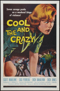"The Cool and the Crazy (American International, 1958). One Sheet (27"" X 41"") Flat Folded. Bad Girl"