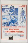 "Movie Posters:James Bond, Thunderball (United Artists, 1965). Military One Sheet (27"" X 41"").James Bond.. ..."