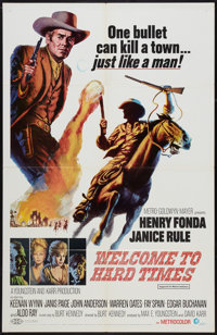 """Welcome to Hard Times (MGM, 1967). One Sheet (27"""" X 41""""). Western"""