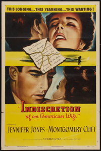 "Indiscretion of an American Wife (Columbia, 1954). One Sheet (27"" X 41""). Drama"