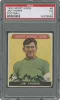 Football Cards:Singles (Pre-1950), 1933 Sport Kings Jim Thorpe #6 PSA VG 3....