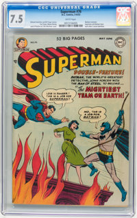 Superman #76 (DC, 1952) CGC VF- 7.5 White pages