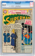 Silver Age (1956-1969):Superhero, Superman #108 (DC, 1956) CGC VF 8.0 Off-white to white pages.