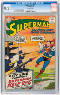 Superman #130 (DC, 1959) CGC NM- 9.2 Off-white pages