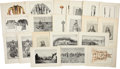 Antiques:Posters & Prints, Forty Illustrations Concerning Wounded Knee and Ghost Dancing. 11.25 x 7.75 inches. From Fourteenth Annual Report of the B... (Total: 40 Items)