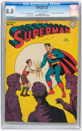 Golden Age (1938-1955):Superhero, Superman #33 (DC, 1945) CGC VF 8.0 Off-white to white pages.