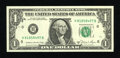 Error Notes:Miscellaneous Errors, Fr. 1912-H $1 1981A Federal Reserve Note. Gem Crisp Uncirculated....