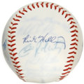 Autographs:Baseballs, 1992 USA Olympic Baseball Team Signed Baseball. Commemorative ToppsTeam USA baseball houses the signatures of 26 members f...
