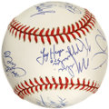 Autographs:Baseballs, 1996 Duke Basketball Team Signed Baseball. You'll probably neveragain see what we offer here, a clean ONL (Coleman) orb wi...