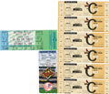 Baseball Collectibles:Tickets, 1990s Cal Ripken, Jr. and Mark McGwire Commemorative Tickets/StubsLot of 8. A full ticket from the final game of Cal Ripke...