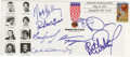 Basketball Collectibles:Others, 1993 Basketball Hall of Fame Induction Class Multi-Signed First DayCover. An amazing class made its way into the Naismith M...