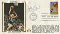 Basketball Collectibles:Others, 1991 Larry Bird First Day Cover. Perfect 10/10 example of a 1991 First Day Cover celebrating the 100th Anniversary of baske...