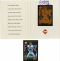 Football Collectibles:Others, 1992 Jim Kelly Signed Printing Plate Card Display. Special limited run display of Jim Kelly's card cut from one of the prin...