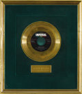 "Music Memorabilia:Recordings, Slim Whitman ""Rose-Marie"" Imperial Gold Record Award (1958). The third Gold Record for Slim Whitman in less than two years w..."