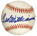 Autographs:Baseballs, Ted Williams Single Signed Baseball. One of the boldest TedWilliams signatures we have ever seen applied to a baseball app...