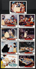 "Movie Posters:Animated, Snow White and the Seven Dwarfs (Buena Vista, R-1967). Lobby Card Set of 9 (11"" X 14""). Animated. Starring Adriana Caselotti... (Total: 9)"