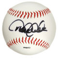 Autographs:Baseballs, Derek Jeter Single Signed Baseball. The Bronx Bombers' belovedcaptain has applied a booming black sharpie signature to thi...