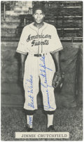 "Autographs:Post Cards, Jimmie Crutchfield Signed Postcard. The black and white postcardmeasuring about 3x5.5"" featuring Jimmie Crutchfield, one o..."