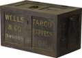 "Western Expansion:Cowboy, WELLS FARGO SAFE BOX ca. 1890'S - Very nice Wells Fargo & Company heavy steel ""safe"" box. In great working order with very ... (Total: 1 Item)"