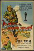 "Movie Posters:War, Sands of Iwo Jima (Republic, 1950). Argentinean One Sheet (29"" X43""). War. Starring John Wayne, John Agar, Adele Mara, Forr..."