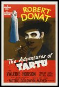 "Movie Posters:War, The Adventures of Tartu (MGM, 1943). One Sheet (27"" X 41"") Style D.Thriller. Starring Robert Donat, Valerie Hobson, Walter ..."