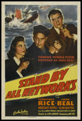 "Movie Posters:War, Stand By All Networks (Columbia, 1942). One Sheet (27"" X 41""). War.Starring Florence Rice, John Beal, Margaret Hayes and Al..."