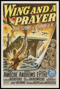 """Movie Posters:War, Wing and a Prayer (20th Century Fox, 1944). One Sheet (27"""" X 41"""").War. Starring Don Ameche, Dana Andrews, William Eythe, Ch..."""