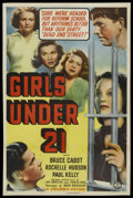 """Movie Posters:Bad Girl, Girls Under 21 (Columbia, 1940). One Sheet (27"""" X 41""""). Bad Girl.Starring Bruce Cabot, Rochelle Hudson, Paul Kelly, Tina Th..."""