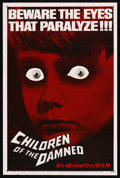 """Movie Posters:Science Fiction, Children of the Damned (MGM, 1963). One Sheet (27"""" X 41"""") Advance.Science Fiction. Starring Ian Hendry, Alan Badel, Barbara..."""