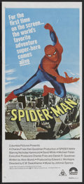 "Movie Posters:Action, Spider-Man (Columbia, 1977). Australian Daybill (13"" X 30""). ..."